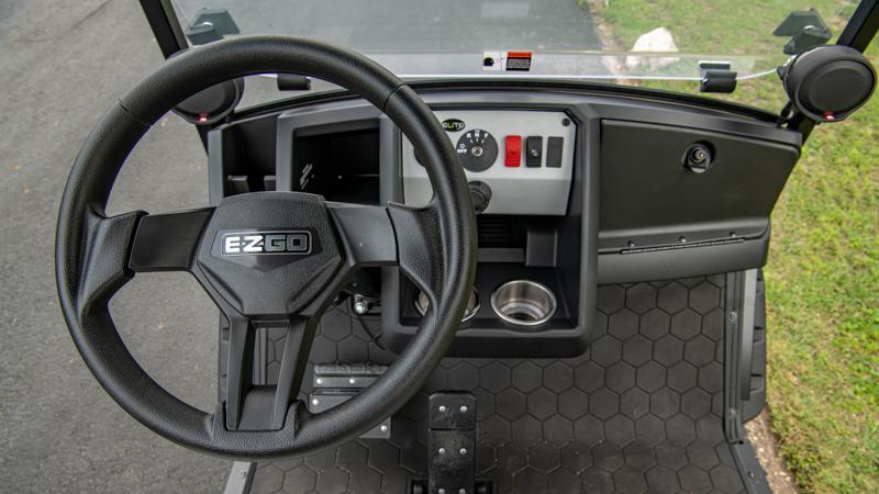 Premium golf cart dashboard and steering wheel