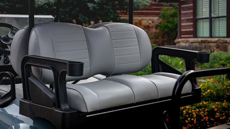 EZGO S4 Slate gas with golf cart  premium seating accessory