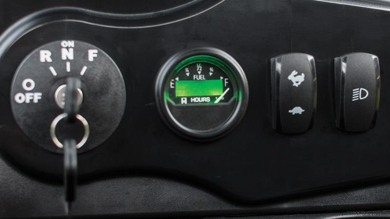 EZGO TXT golf cart with easy to read hour meter accessory