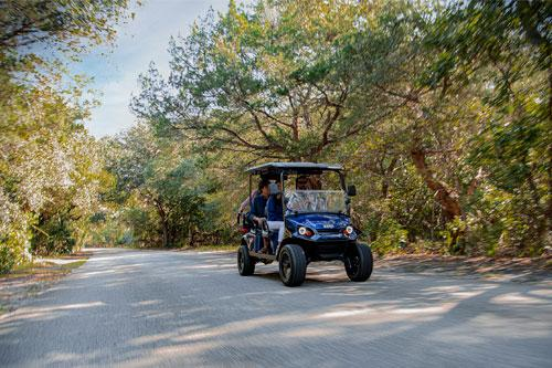 EZGO Express L6 with Top and Windshield Accessories