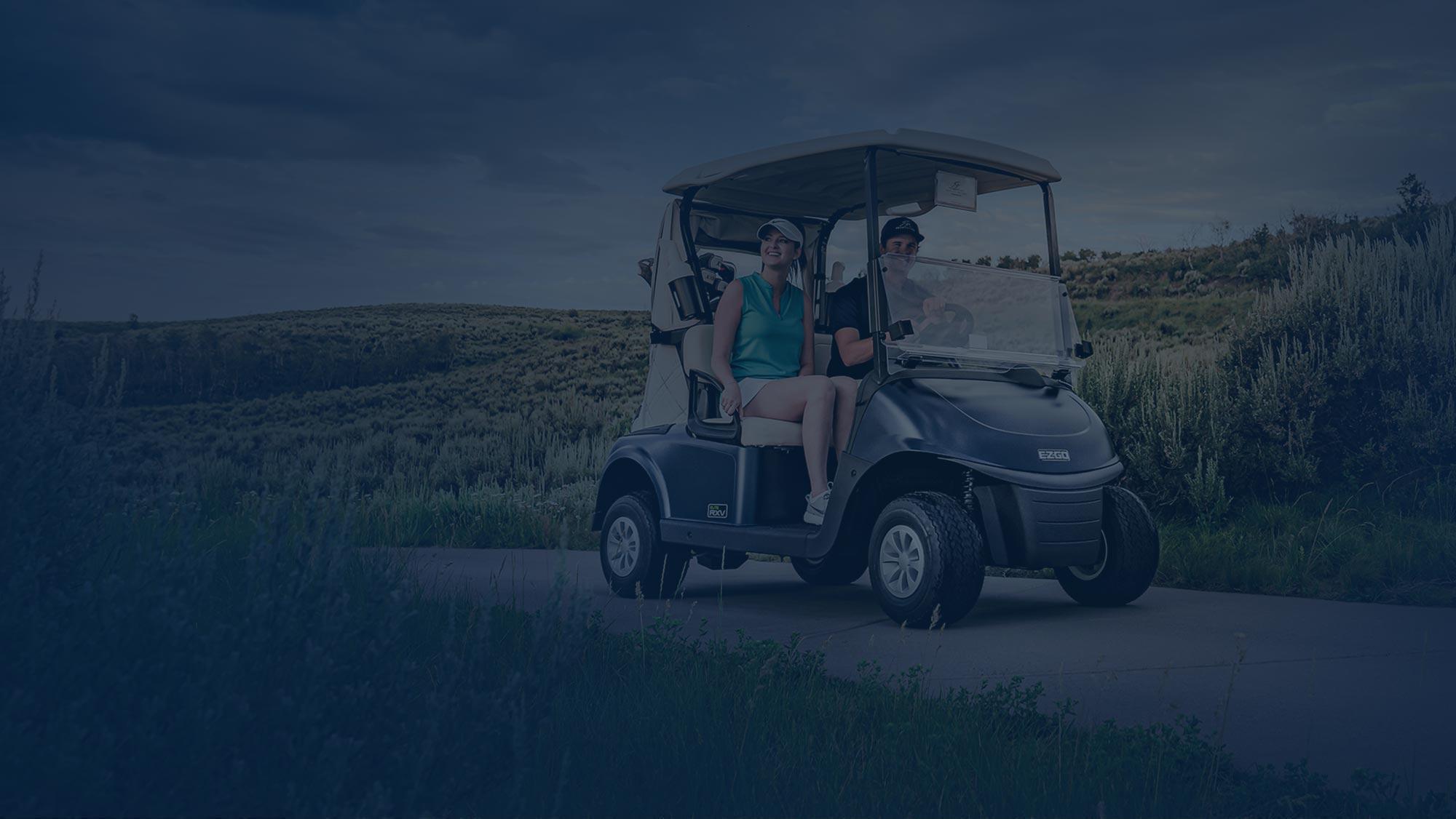 E-Z-GO Environmentally-Friendly Green Golf Cart