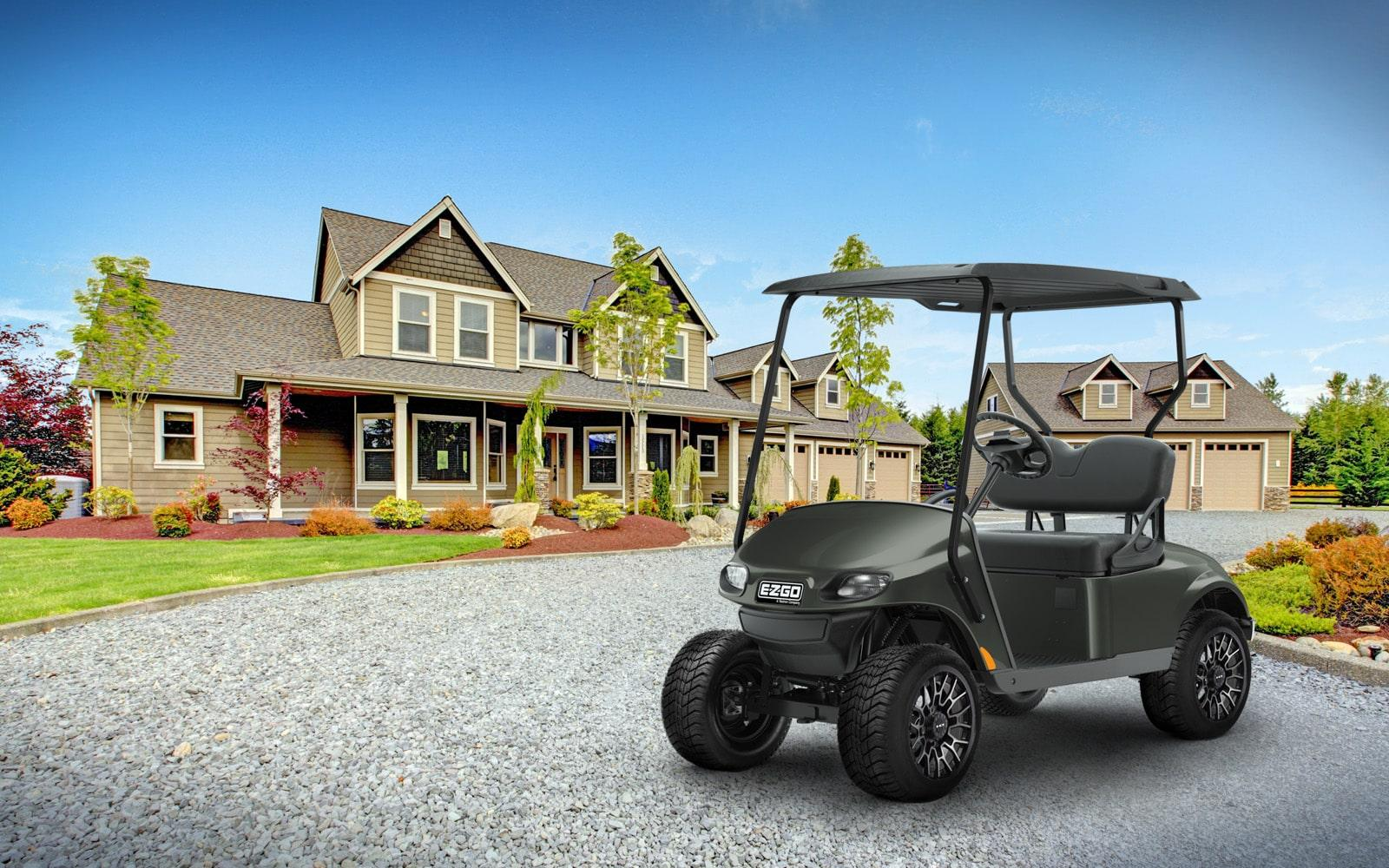 E-Z-GO Tank Green Valor Golf Cart 2 passenger