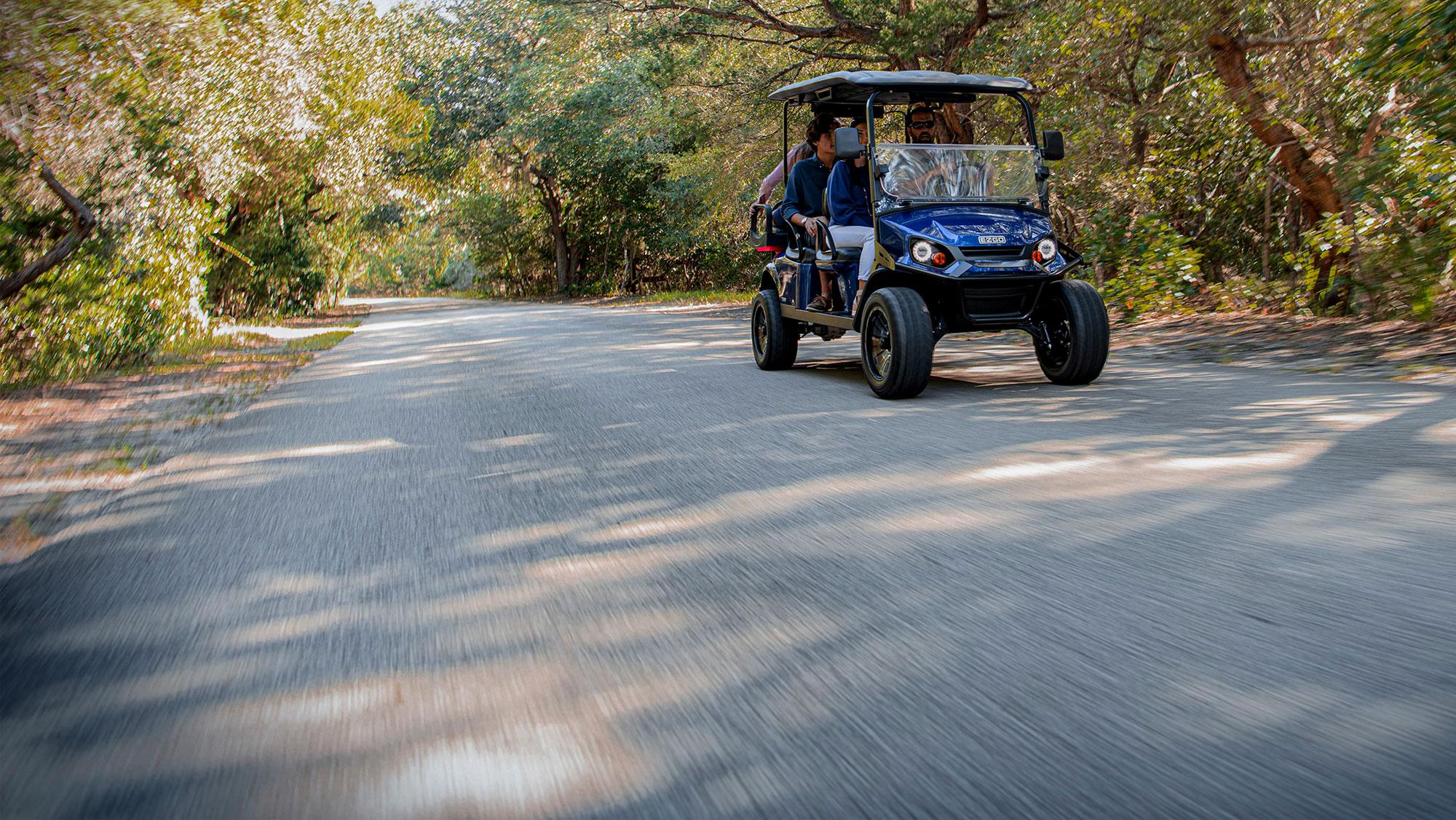 Express L6 Personal Golf Cart with Windshield and Top Accessory