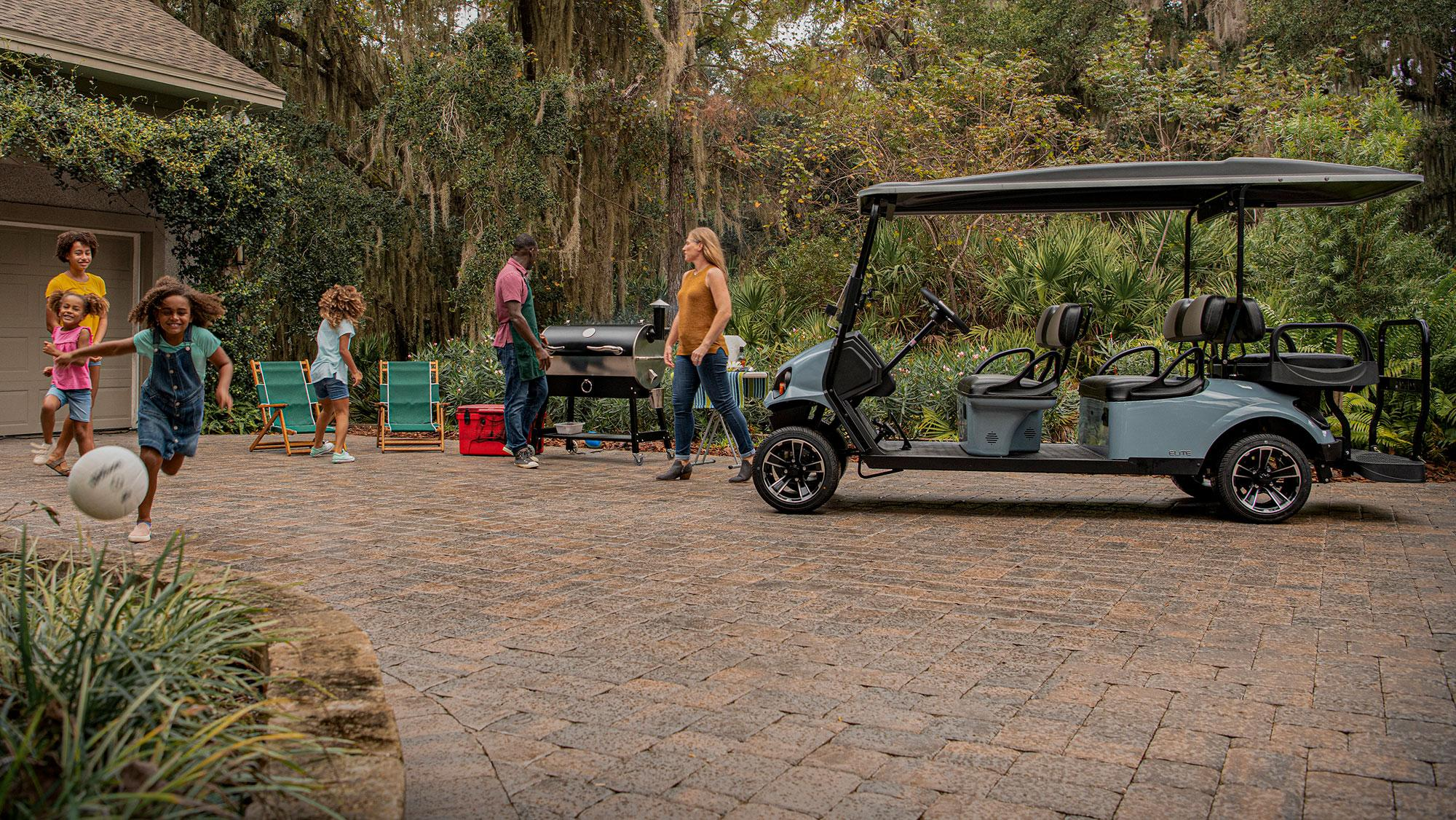 Express S6 Personal Golf Cart with Black Top