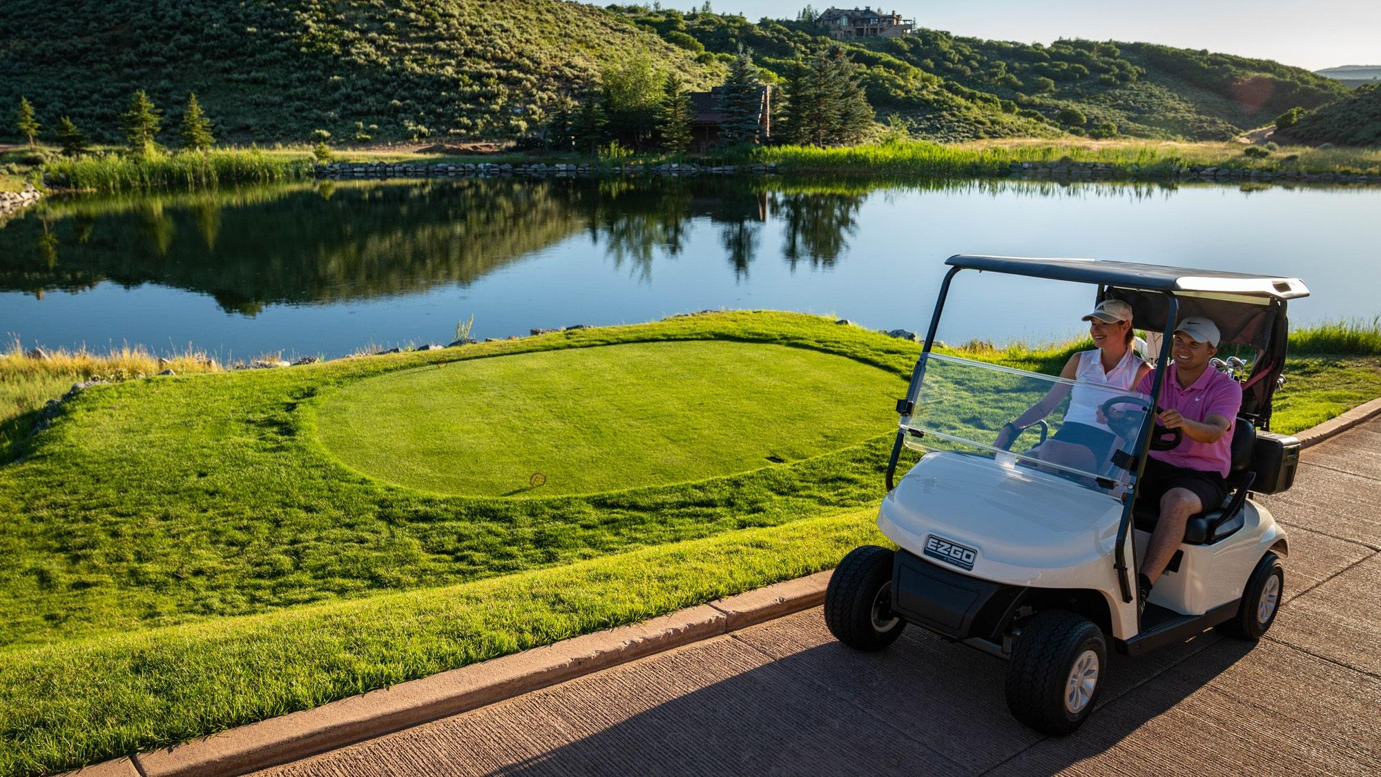 EZGO White TXT Fleet Golf Cart