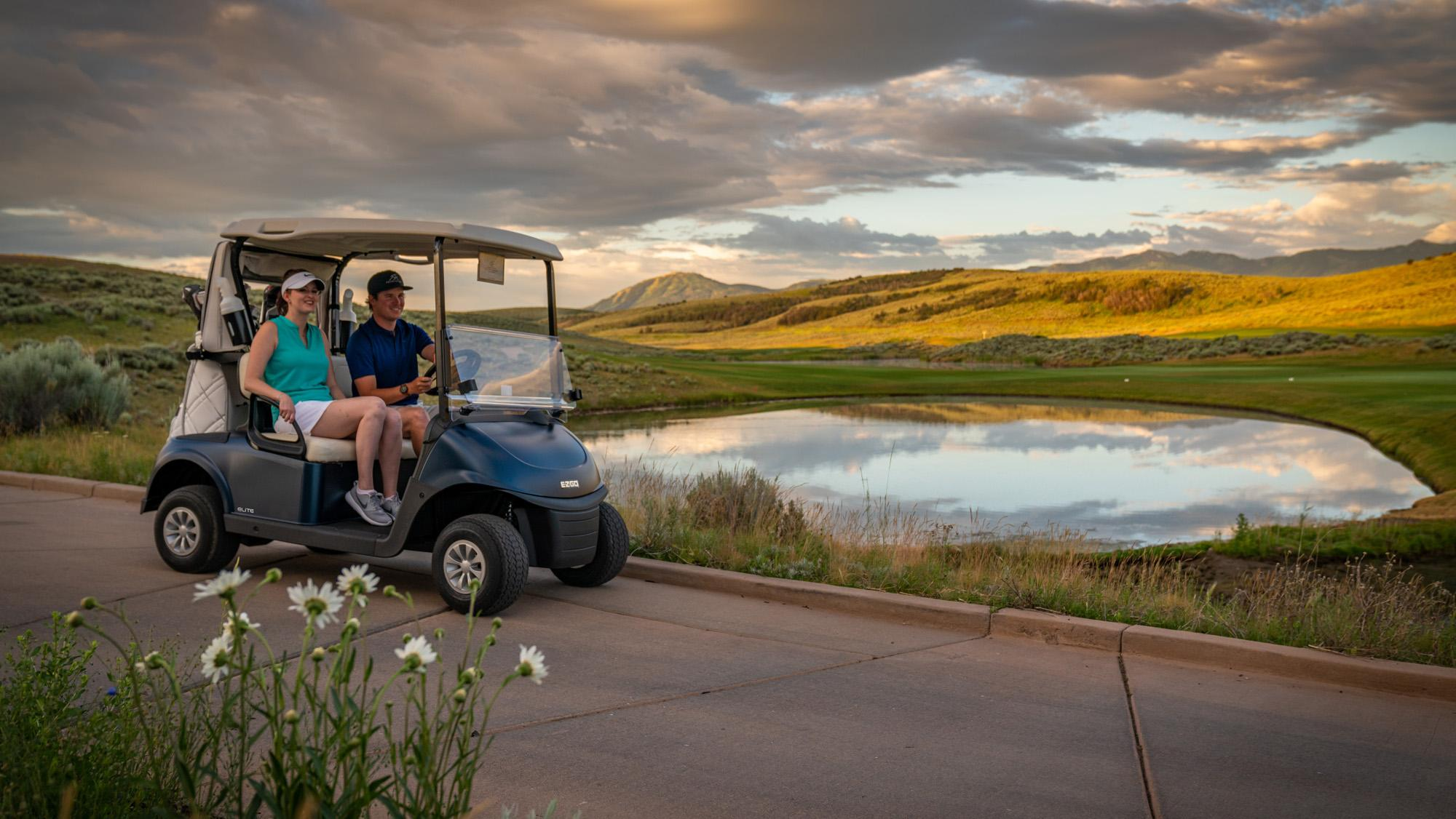 EZGO Blue Fleet RXV Golf Cart ELiTE Lithium Electric