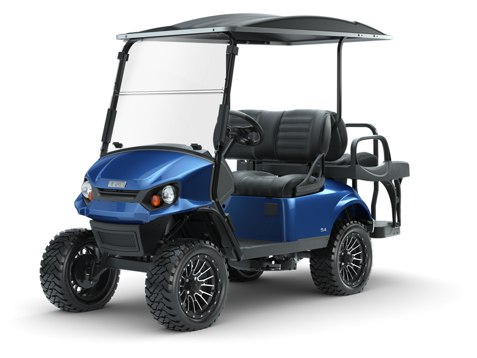 EZGO Express S4 Electric Blue Personal Golf Cart