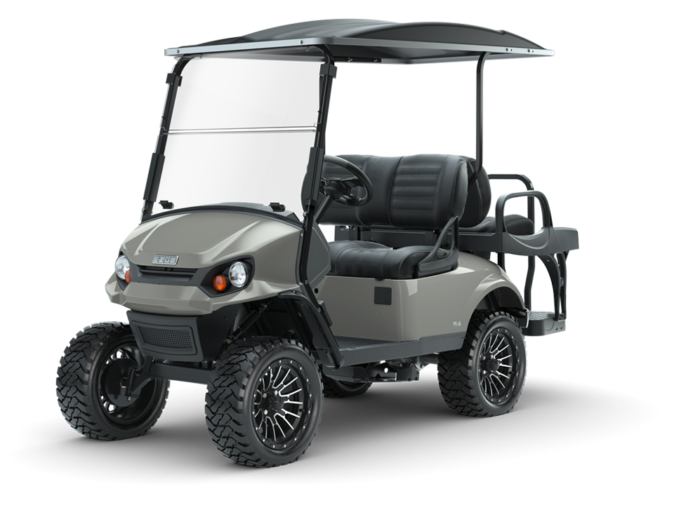 Express S4 Slate Personal Golf Cart with Premium 4 passenger seats