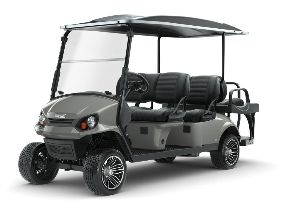 EZGO S6 Slate gas with golf cart  standard seating accessory