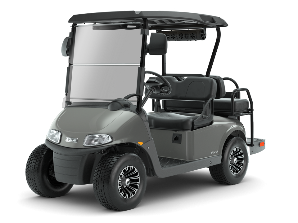 EZGO Slate Freedom RXV Golf Cart with Speaker Accessory