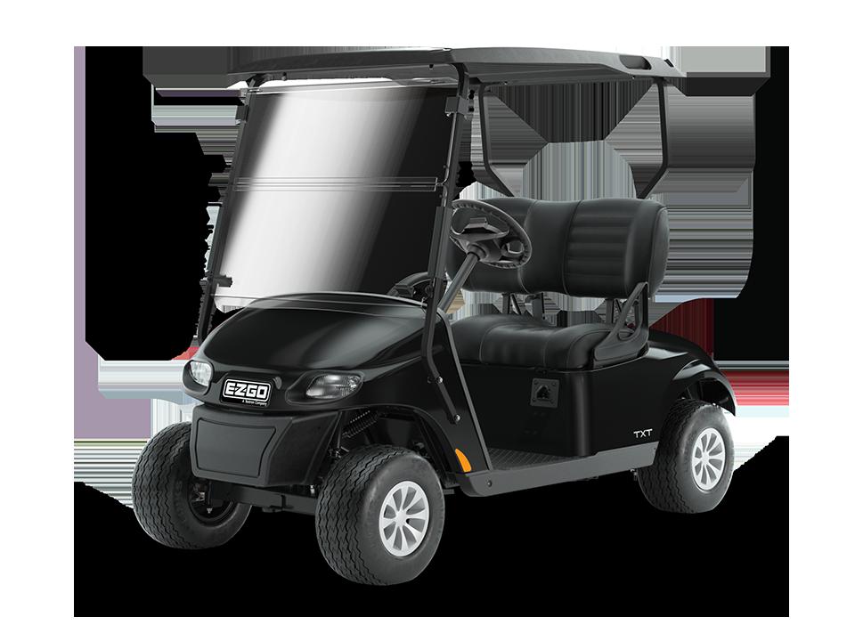 EZGO Freedom TXT electric black 48V with golf cart premium wheels