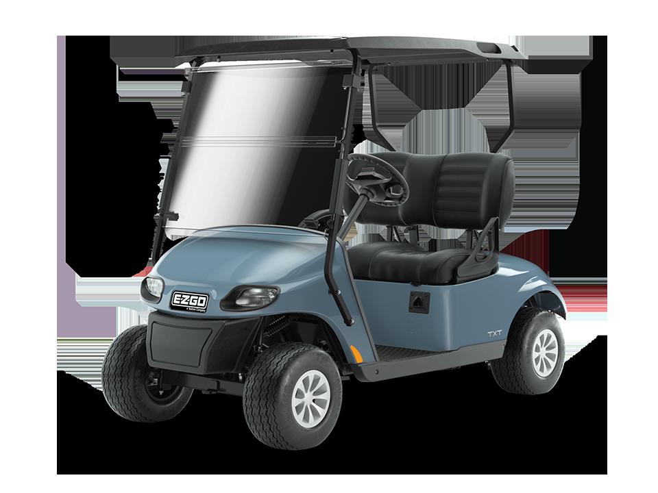 EZGO Freedom TXT ocean grey 48V with golf cart premium wheels