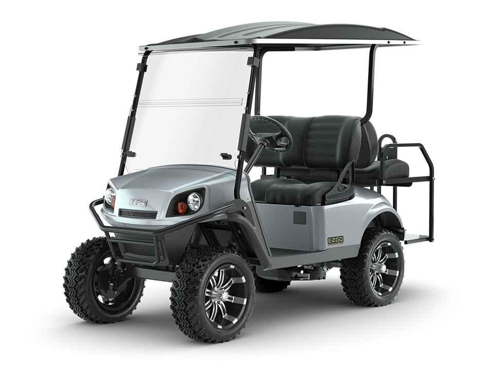 EZGO Platinum Express S4 Golf Car with Black Premium Seats Accessory