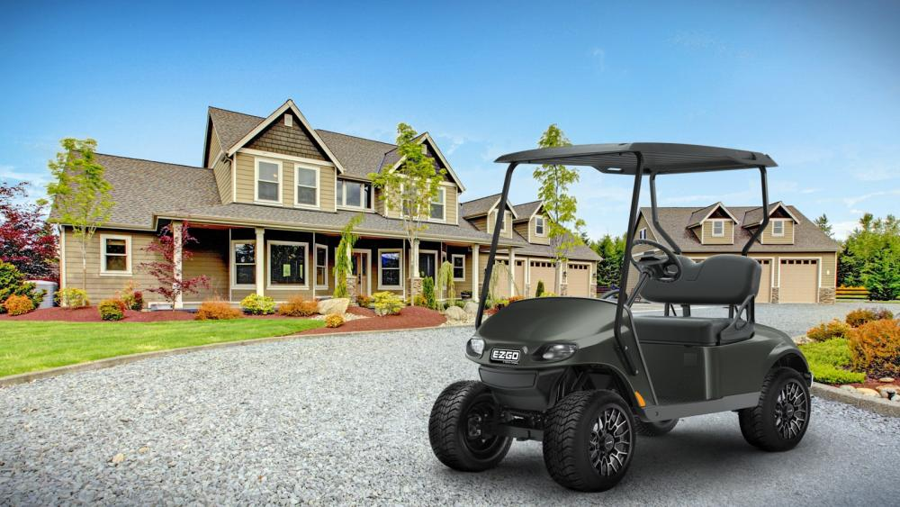 E-Z-GO Tank Green Valor Golf Cart 2 passenger